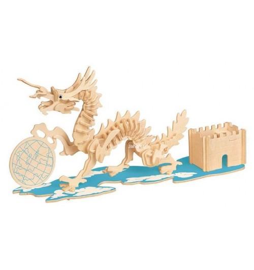 """Конструктор: Сборная деревянная модель """"Дракон"""" 3D"""