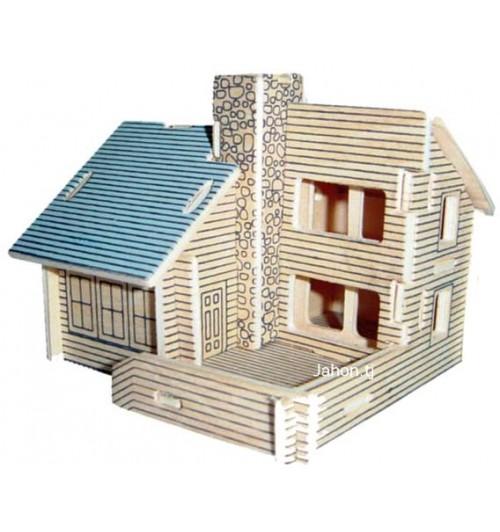 """Конструктор: Сборная деревянная модель """"Коттедж"""" 3D"""