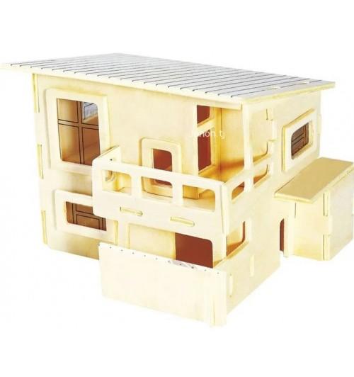"""Конструктор: Сборная деревянная модель """"Летний домик"""" 3D"""