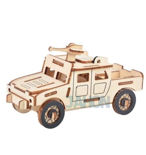 """Конструктор: Сборная деревянная модель """"Военный Хамер"""" 3D"""