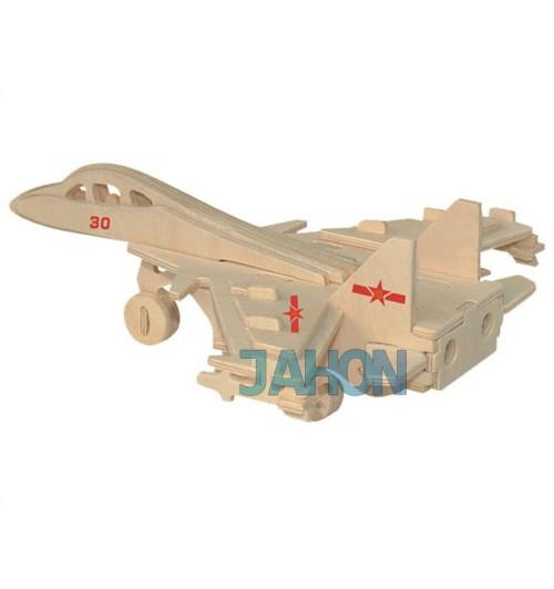 """Конструктор: Сборная деревянная модель """"Штурмовой самолет"""" 3D"""