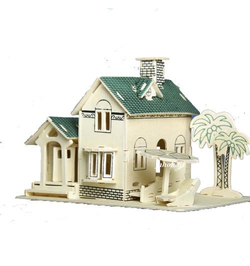 """Конструктор: Сборная деревянная модель """"Вилла на острове"""" 3D"""