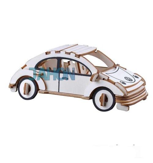 """Конструктор: Сборная деревянная модель"""" Автомобиль жук"""" 3D"""