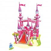 """Конструктор: Сборная картоная модель """"Розовый замок """" 3D"""